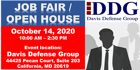 Davis Defense Group Job Fair/Open House tickets