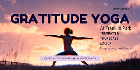 Gratitude Yoga In The Park - Tuesdays & Thursdays tickets