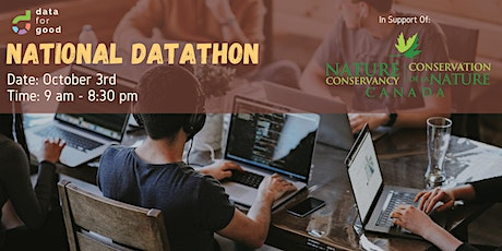 Data For Good's National Datathon with Nature Conservancy of Canada tickets