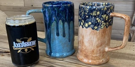 Paint Your Own Beer Stein Class at Axe and Arrow Brewing tickets