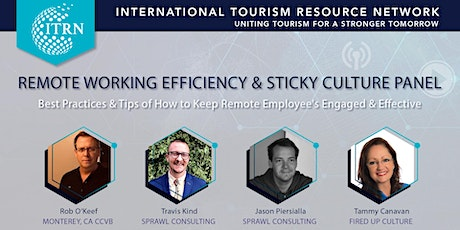 Remote Working Efficiency & Sticky Culture Panel tickets
