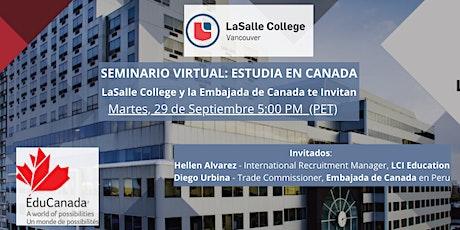 Estudia en Canadá, Informate con LaSalle College y la Embajada de Canada tickets