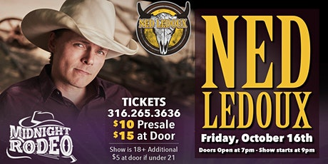 Ned LeDoux at Midnight Rodeo tickets