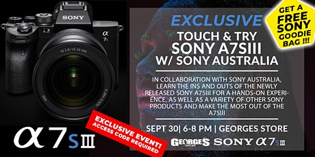 Exclusive Sony A7SIII | Experience & Learn w/ Sony Australia tickets
