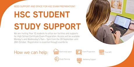 HSC study space and support tickets