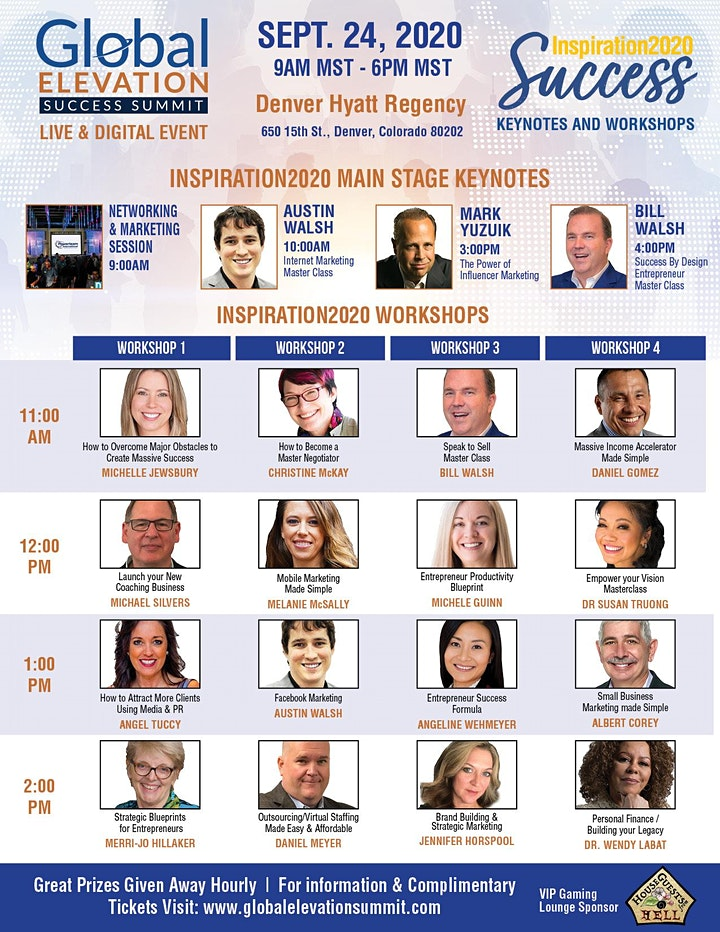 Global Elevation Success Summit/Inspiration2020 Success Tour Denver image