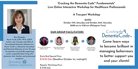 """Cracking the Dementia Code™ Fundamentals""  Live Online Workshop  - Asia tickets"
