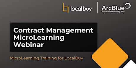 Contract Management Essentials Webinar for LocalBuy tickets
