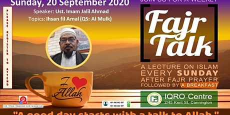 Fjar Talk Every Sunday IQRO WA tickets