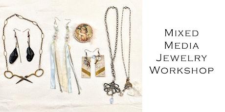 Mixed Media Jewelry Workshop November 20th tickets