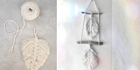 Macramé Leaf  Wall Hanging tickets