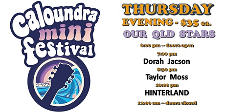 Caloundra Mini Music Festival 2020 - THURSDAY EVENING Session (18+ event) tickets