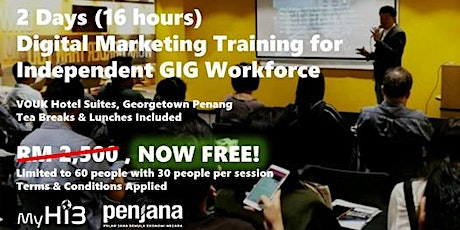 2 Days (16 hours)  Digital Marketing Training for Independent GIG tickets