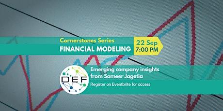 Cornerstones Startup Series (Financial Modeling) tickets