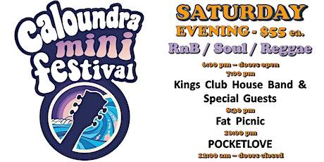 Caloundra Mini Music Festival 2020 - SATURDAY EVENING Session (18+ event) tickets