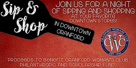 Sip & Shop in Downtown Cranford tickets