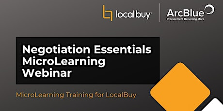 Negotiation Essentials MicroLearning Webinar for LocalBuy tickets