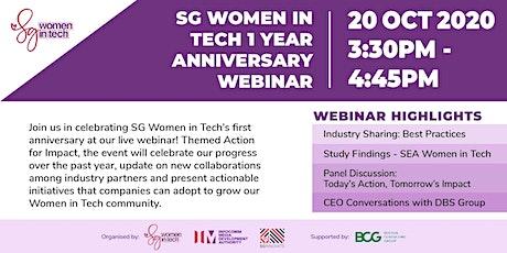 SG Women in Tech 1 Year Anniversary [Online Event] tickets