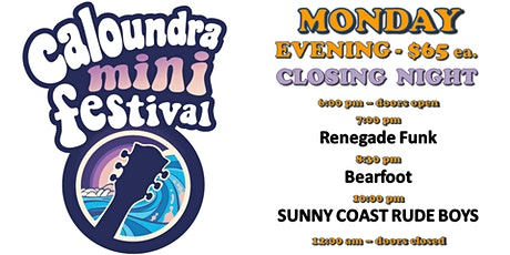 Caloundra Mini Music Festival 2020 - MONDAY EVENING Session (18+ event) tickets