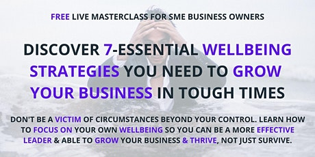 SME Owners: Learn 7-Essential Strategies To Balance Wellbeing & Performance tickets