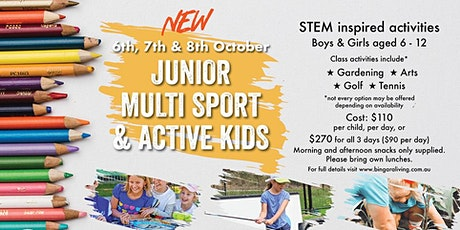 Active kids holiday classes tickets