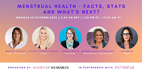 WEBINAR - Menstrual Health - Facts, Stats and What's Next? tickets