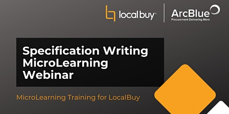 Specification Writing Webinar  for LocalBuy tickets