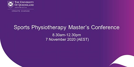 UQ Sports Physiotherapy Master's Conference tickets