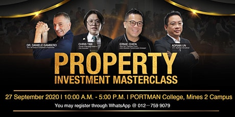 PROPERTY INVESTMENT MASTERCLASS - 1 DAY TRAINING tickets