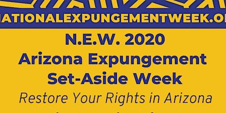 Arizona - National Expungement Week tickets