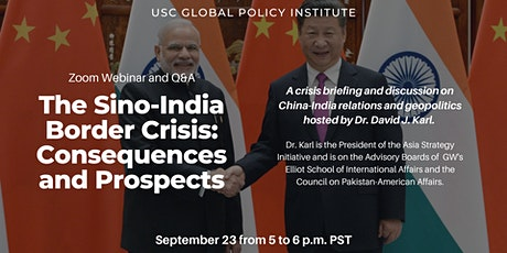 Crisis Briefing | The Sino-India Border Crisis: Consequences and Prospects tickets