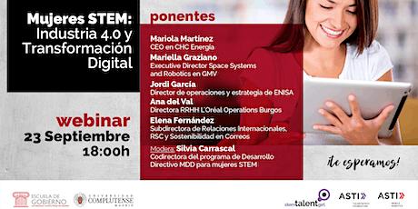 Mujeres STEM: Industria 4.0 y Transformación Digital boletos