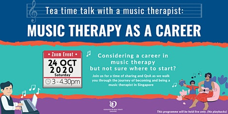 Tea Time Talk with a Music Therapist: Music Therapy as a Career tickets