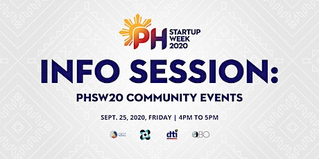 Info Session: PHSW 2020 Community Events tickets