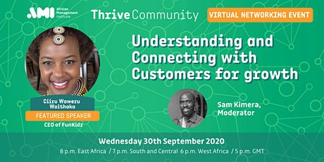 Understanding and Connecting with Customers for Growth tickets