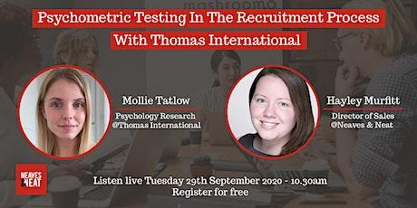 Psychometric Testing with Thomas International tickets