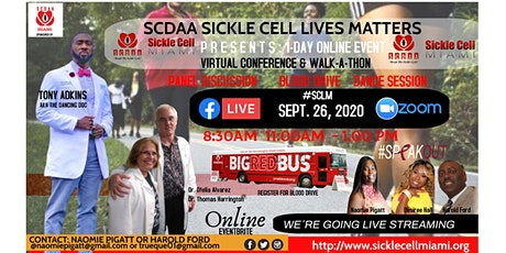 The Sickle Cell Lives Matter (#SCLM) Virtual 1-Day Online  Walkathon, Panel tickets
