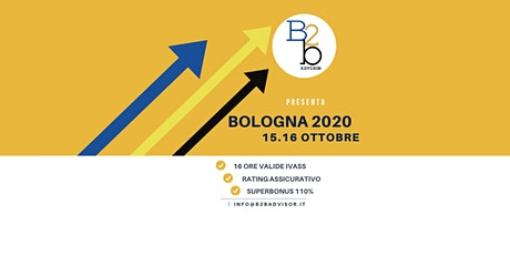 BOLOGNA 2020 - 15.16 OTTOBRE 2020 biglietti