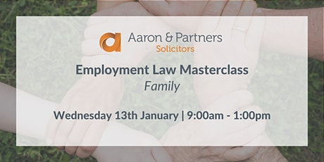 Employment Masterclass - Family tickets