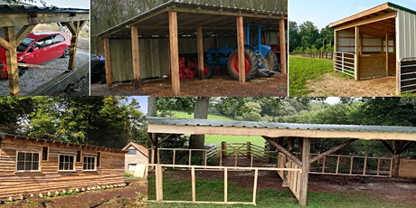 Construct a wooden pole barn - 2 days - for beginners  (including lunch) tickets