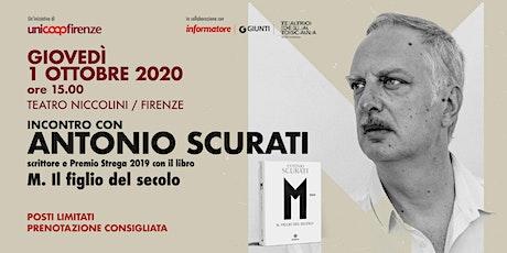 Incontro con Antonio Scurati, scrittore e premio S biglietti