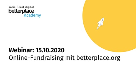 Webinar: Online-Fundraising mit betterplace.org Tickets