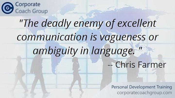 Communication Skills Training (1 day course London) image