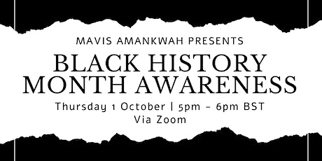 Black History Month Awareness tickets