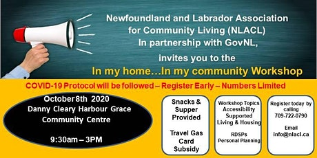 In My Home - In My Community 2020  Harbour Grace tickets