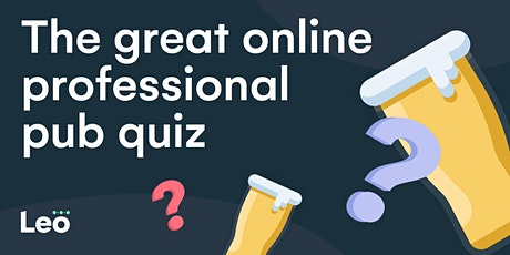 The great online professional pub quiz tickets