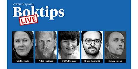 Boktips LIVE: Vigdis Hjorth og Sondre Lerche m.fl. tickets