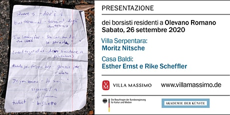 BUS per Presentazione dei borsisti residenti a Olevano Romano biglietti