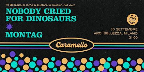 CARAMELLO w/ Nobody Cried for Dinosaurs + Montag biglietti