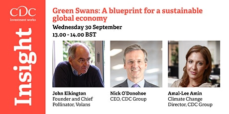 CDC Insight. Green Swans: A blueprint for a sustainable global economy tickets
